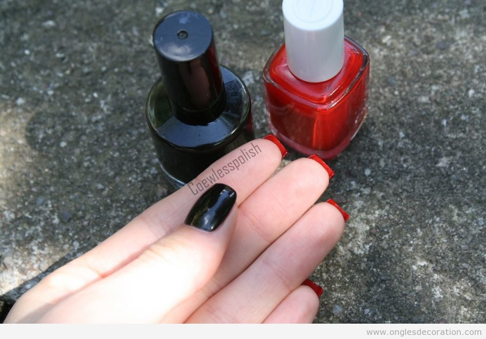 Dessin sur les ongles Loboutine en rouge et noir