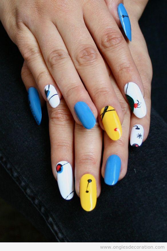 Déco sur les ongles inspiré de l'ouvre de Joan Miró