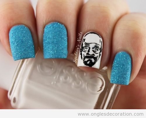 Dessin sur ongles Breaking Bad