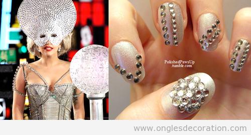 Déco sur les ongles inspiré d'un look Lady Gaga
