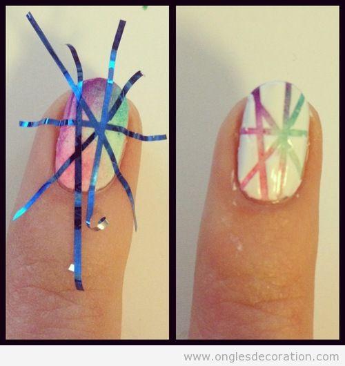 Tutoriel dessin sur ongles avec ruban adhesif