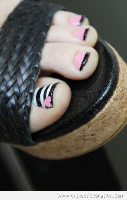 Déco sur ongles pieds, pédicure