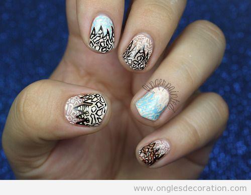 Déco sur ongles inspiré d'un dessin d'Alessandra Rich