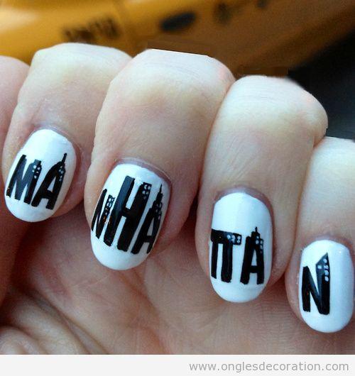 Dessin sur ongles, affiche Manhattan de Woody Allen
