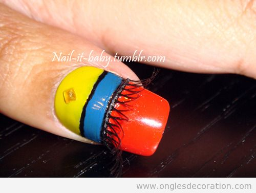 Déco sur ongles style indien americain