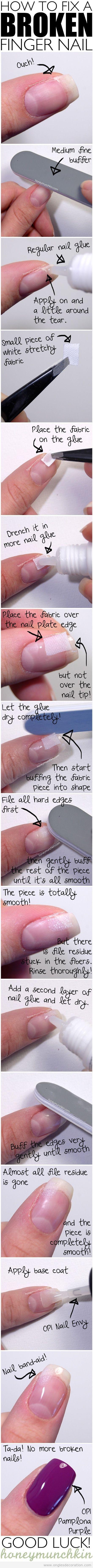 Tuto réparer ongle cassé