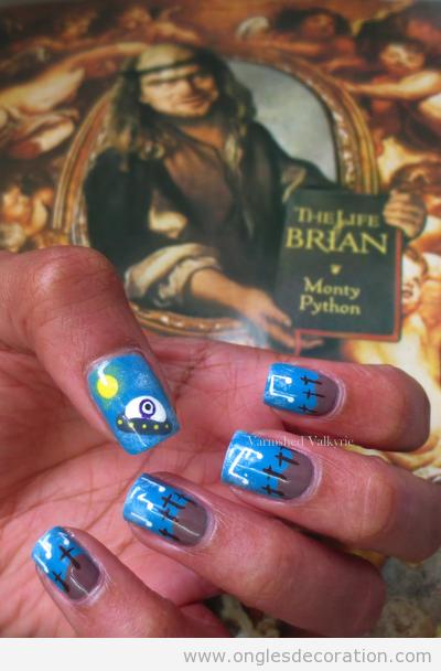 Déco sur ongles inspiré du film La Vie de Brian
