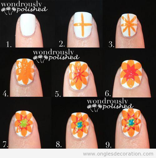 Tutoriel, comment dessiner une fleur sur les ongles