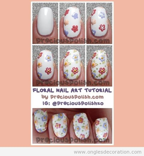 Tuto pas à pas, dessin de fleurs sur ongles