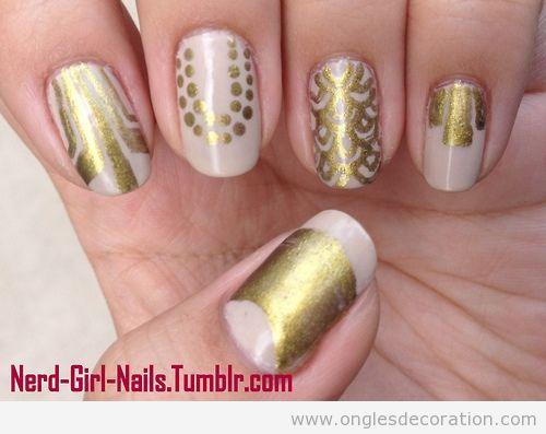 Déco sur ongles inspiré de Great Gatsby