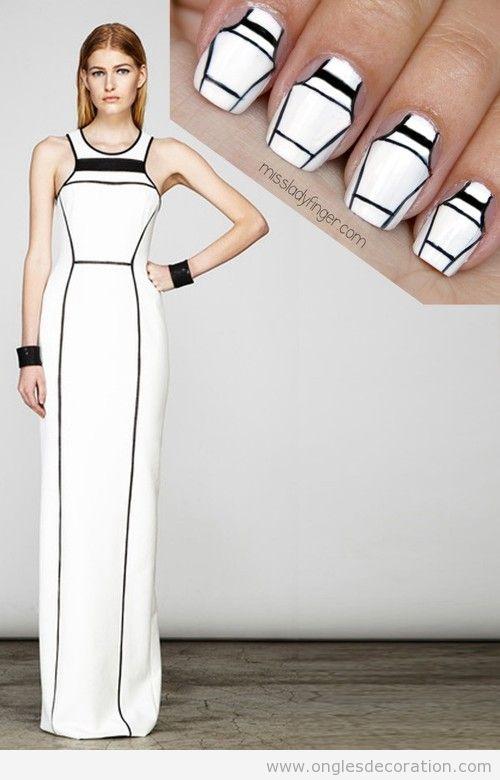 Déco sur ongles inspiré d'un veste de Yigal Azrouel 2014