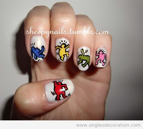 Déco sur ongles, Pop Art, Keith Haring