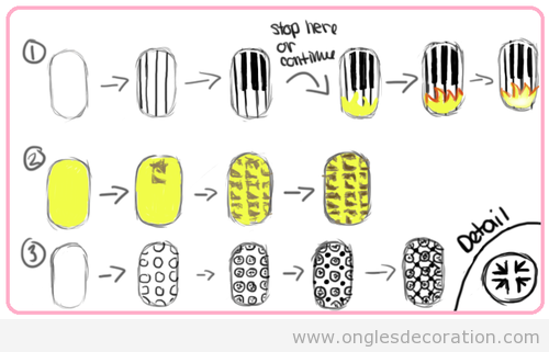 motif d coration d 39 ongles nail art part 8 dessins. Black Bedroom Furniture Sets. Home Design Ideas