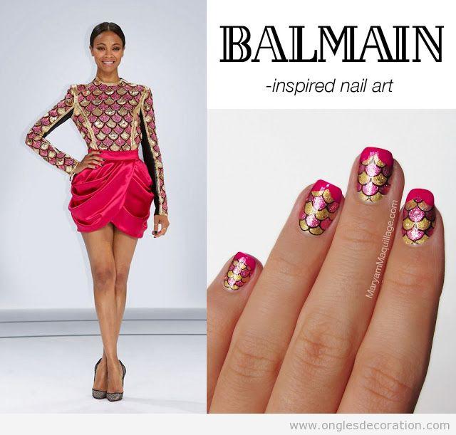 Dessin sur ongles inspiré d'un dessin de Balman