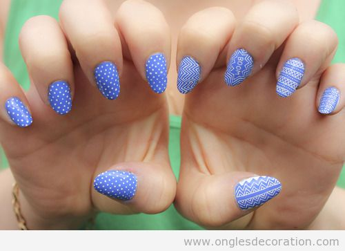 bleu d coration d 39 ongles nail art. Black Bedroom Furniture Sets. Home Design Ideas