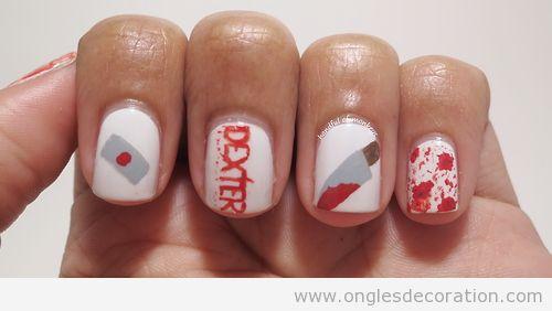 Dessin sur ongles Dexter