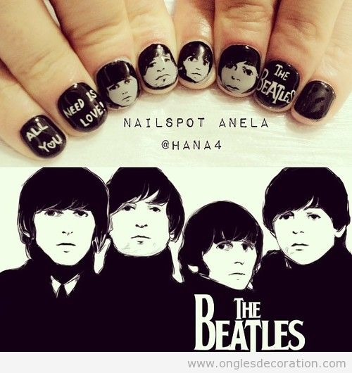 Déco sur ongles, The Beatles