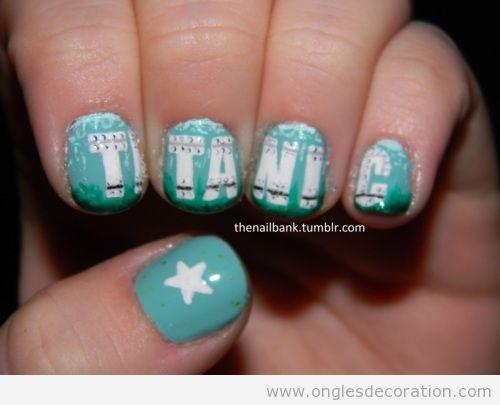 Déco ongles Titanic