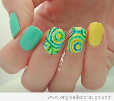 Déco ongles circles concentriques, tuto pas à pas