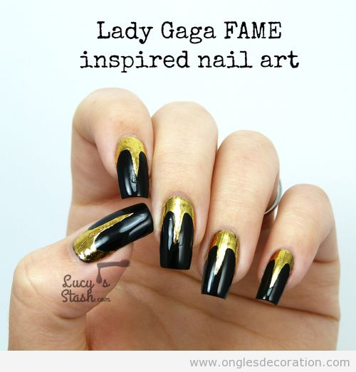 Dessin sur ongles inspiré de Fame Lady Gaga