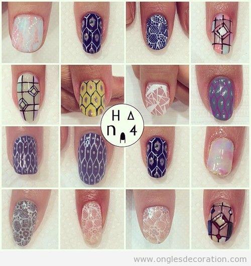 Id es d coration d 39 ongles nail art part 11 dessins sur les ongles Idee dessin sur ongle