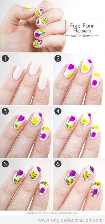 Tuto pas à pas, comment dessiner des fleurs sur ongles