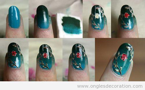 Tuto pas à pas pour apprendre comment dessiner fleurs sur les ongles