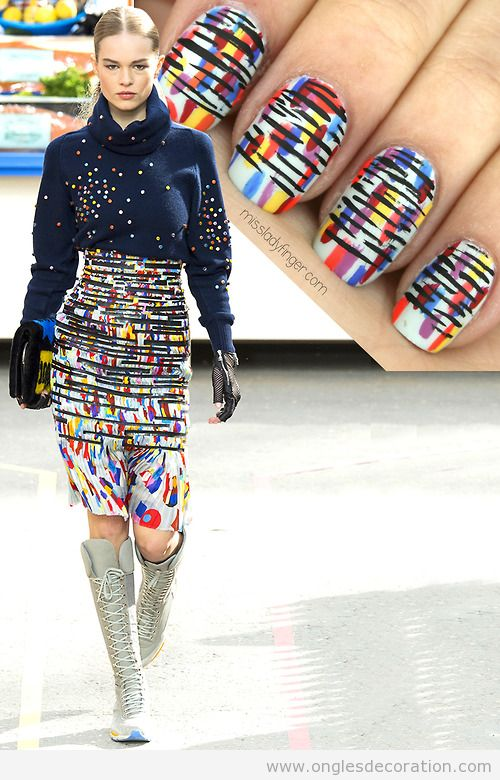 Déco ongles inspiré collection Chanel Automne 14