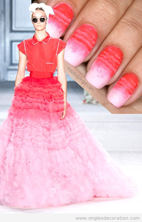 Déco ongles Giambattista Valli Couture Fall '14,
