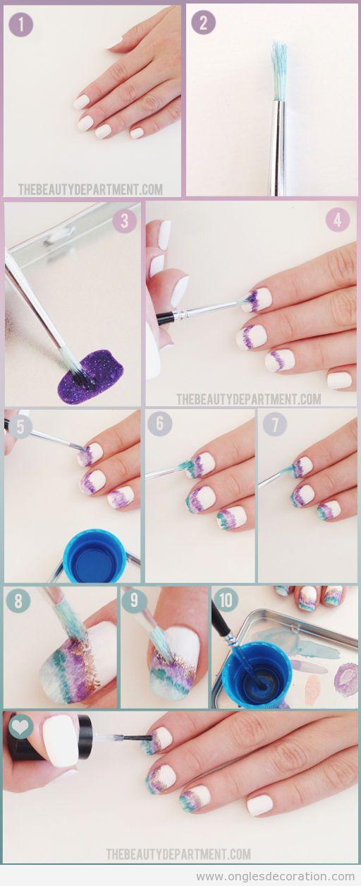 Tuto pour apprendre comment réaliser déco sur ongles pierre géoge