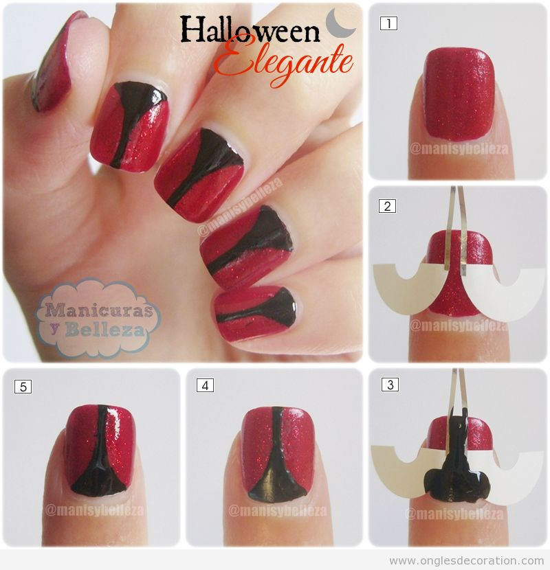 Halloween d coration d 39 ongles nail art - Comment faire des decoration d halloween ...