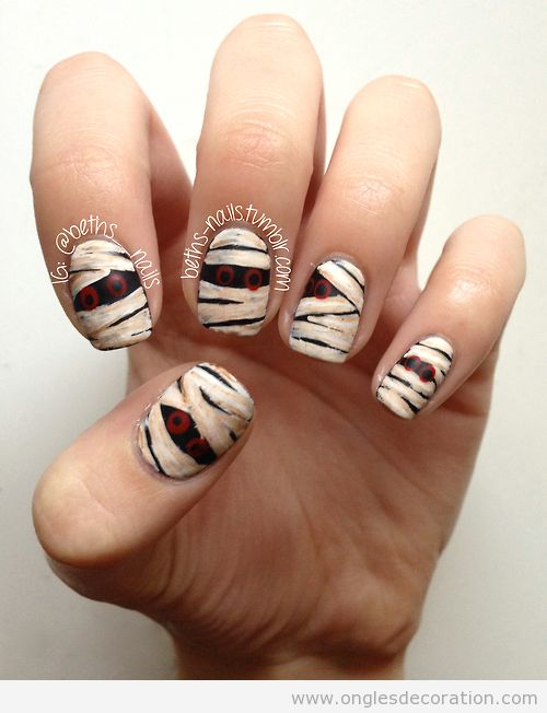 Halloween d coration d 39 ongles nail art part 2 dessins sur les ongles - Idee deco ongle facile ...