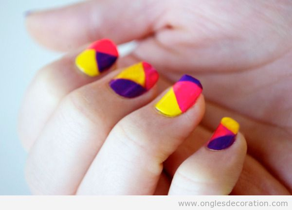 Tuto déco ongles simple color block