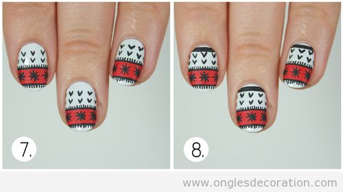 Deco Ongles Noel 2013 Déco Ongles Pull-over Noël
