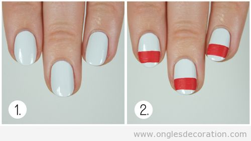 Tuto déco ongles pull,over Noël 3