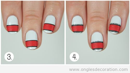 Tuto déco ongles pull-over Noël 4