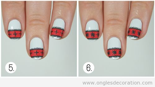 Tuto déco ongles pull-over Noël 5
