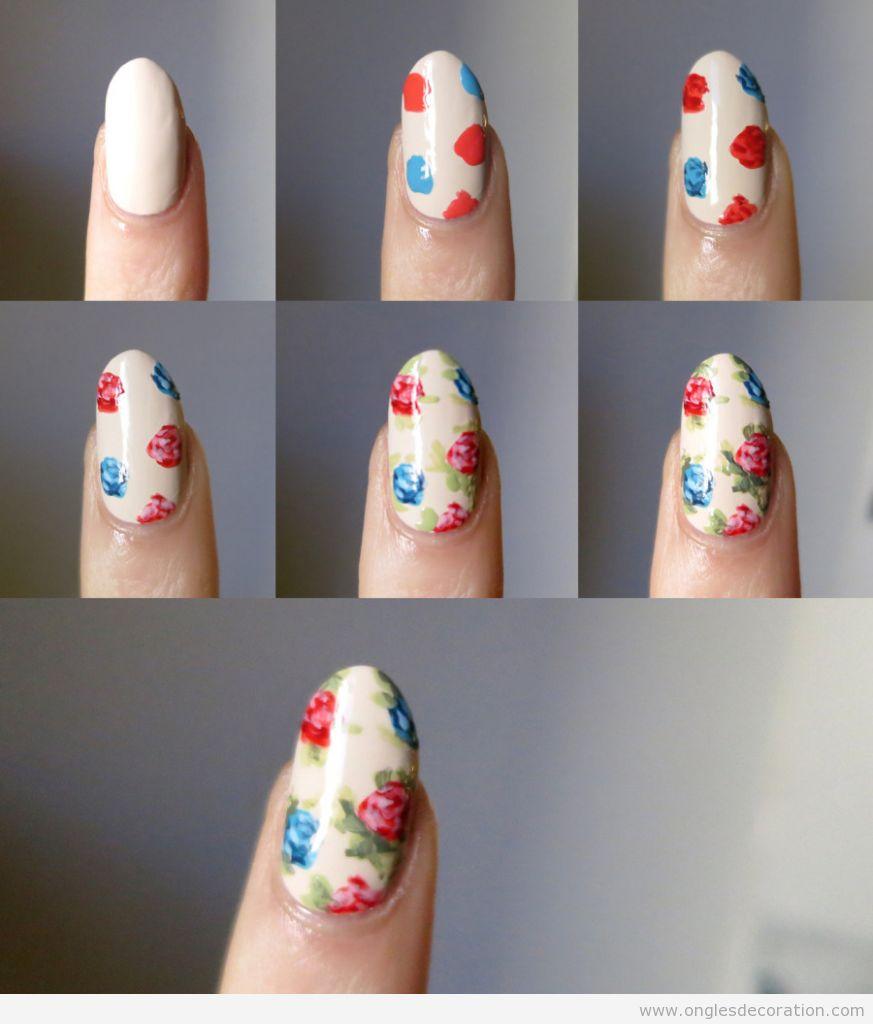 Comment dessiner roses vintage sur les ongles