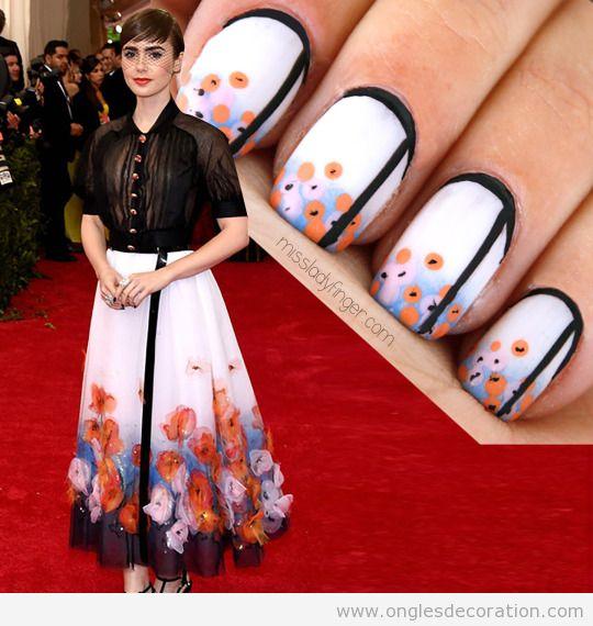 Déco sur ongles inspiré du veste fleurs Chanel 15