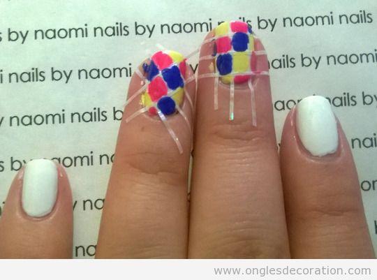 Tuto déco ongles mosaïque carré, pas 3