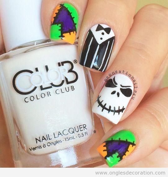 Dessin sur ongles pour le Halloween 5