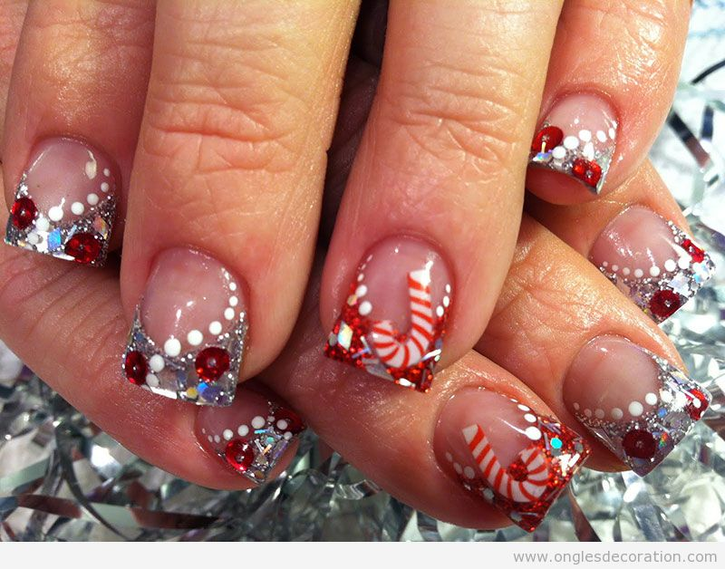 Christmas Design For Short Nails : Tutoriel d?coration d ongles nail art