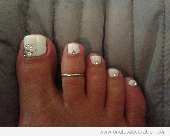 Déco ongles pieds, pédicure pour l'été