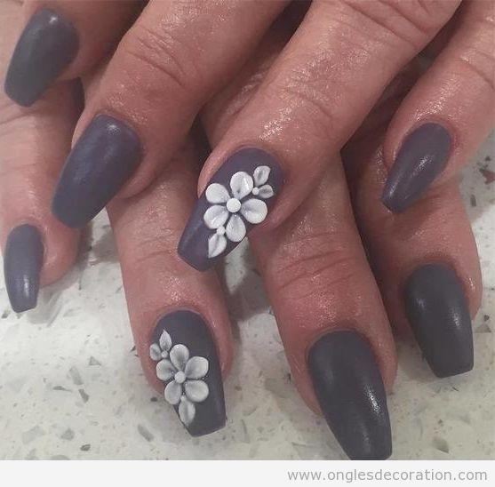 Déco ongles fleurs résine 3D 3