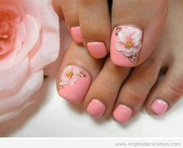 Déco ongles fleurs résine 3D 8