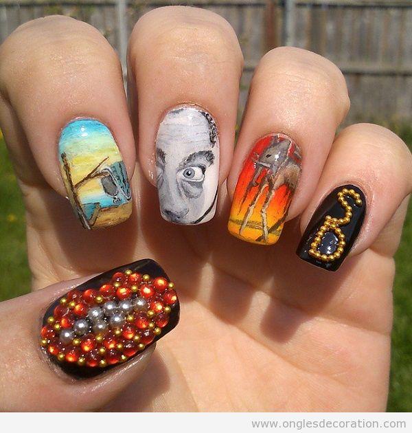 Déco ongles surréalistes Dalí