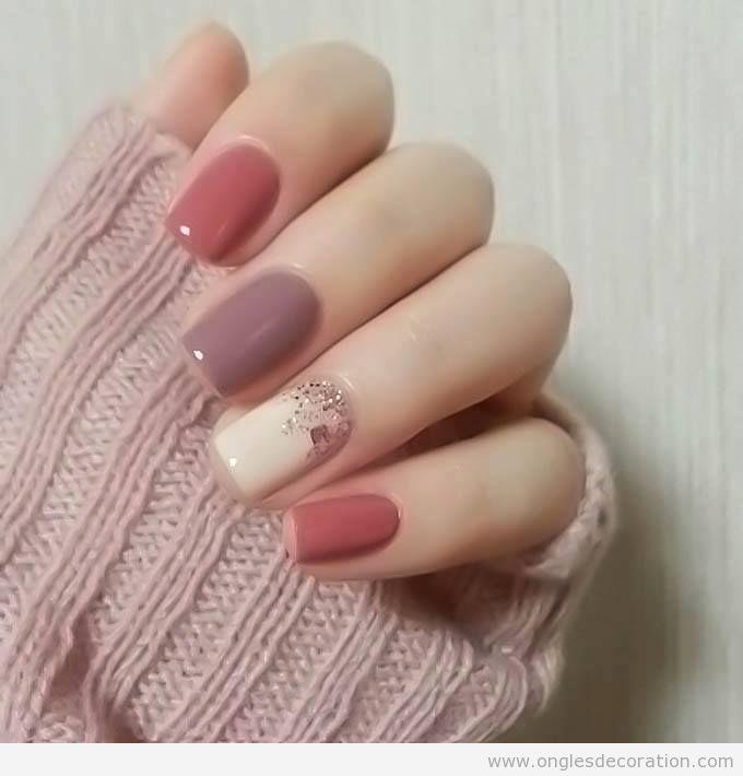 Déco ongles printemps 2017 couleurs pastel