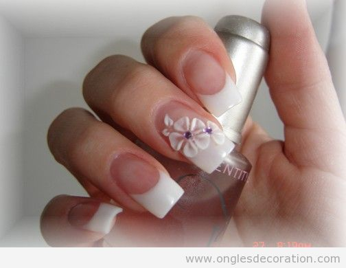 Déco ongles fleurs résine 3D 14