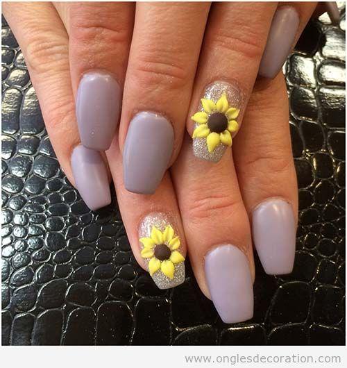 Déco ongles fleurs résine 3D 7