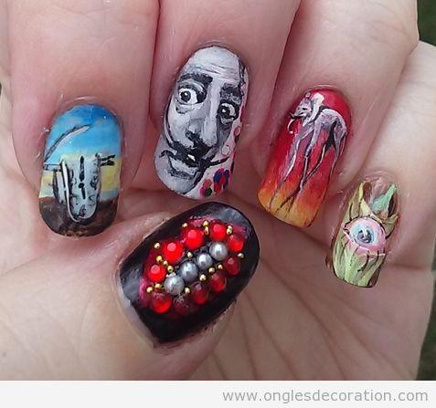 Déco ongles surréalistes Dalí 2